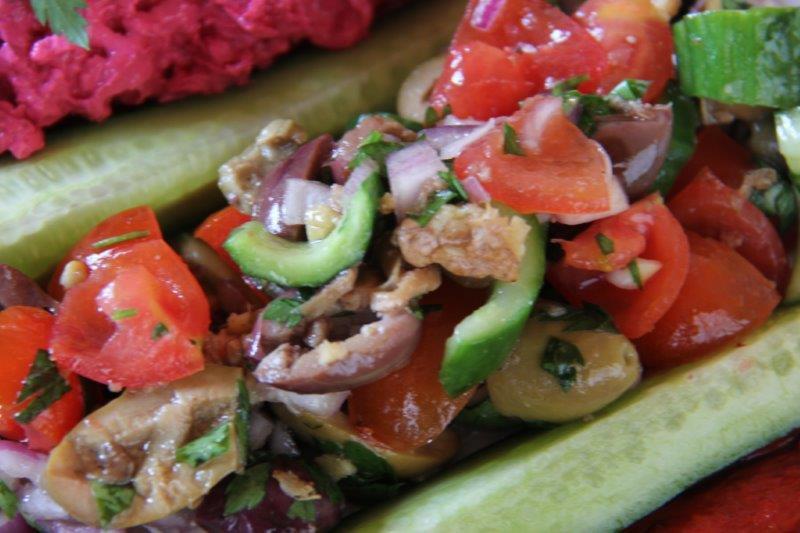 Mixed Olive Salad compassandfork.com