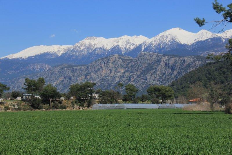 Scenery near Saklikent Gorge near Fethiye