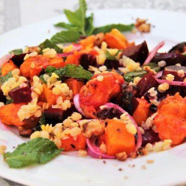 Turkish Warm Lentil Salad Recipe www.compassandfork.com