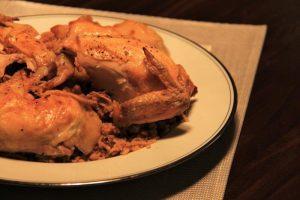 Serving Chicken Pilaf compassandfork.com