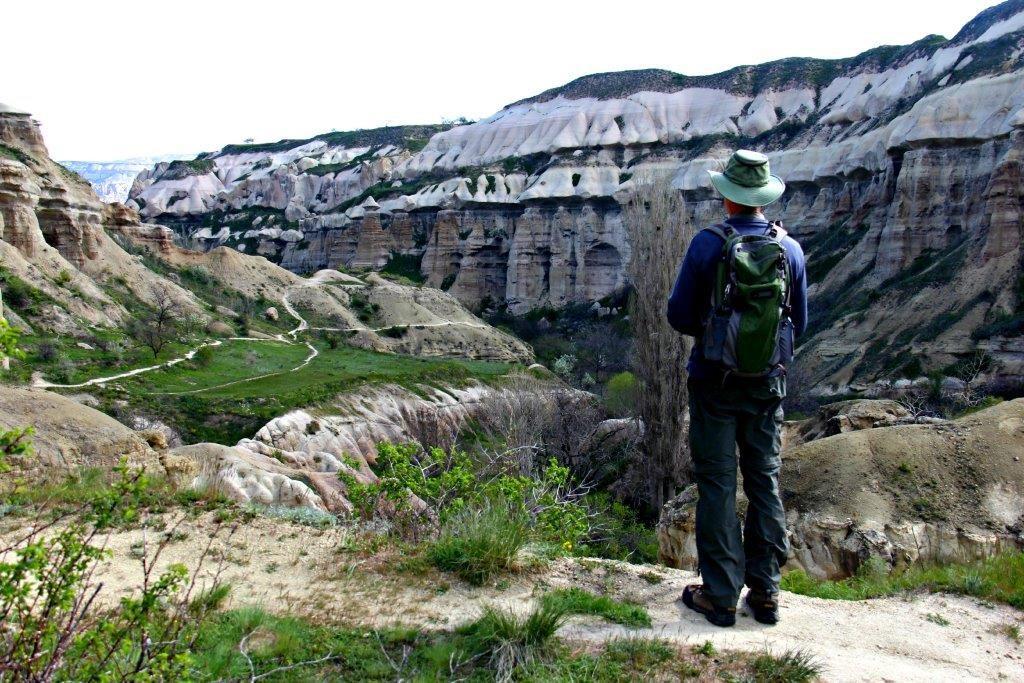 Hiking in Cappadocia and a Pomegranate Orange Juice Recipe Start of Pigeon Valley compassandfork.com