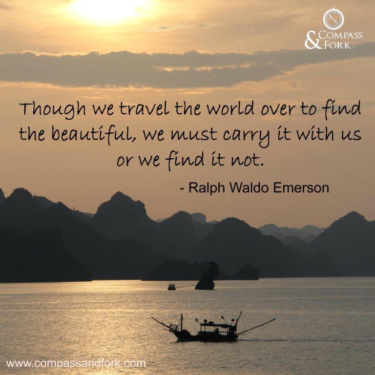 Compass & Fork Inspirational Quote Square Ralph Waldo Emerson compassandfork.com