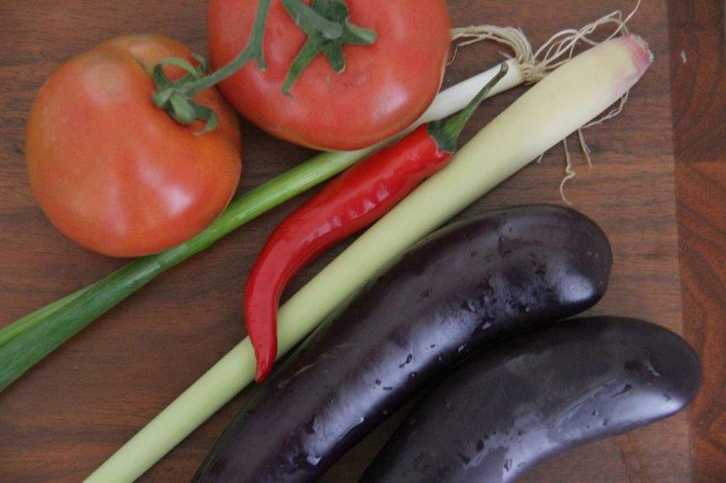 main ingredienbts - Eggplant Claypot from Absolutely Beautiful Ninh Binh