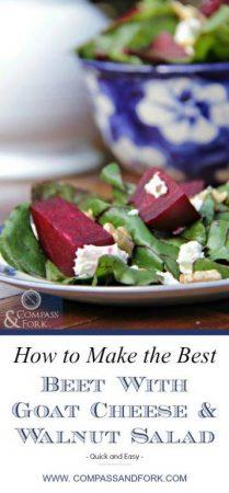 Beet, Goat Cheese and Walnut Salad Recipe www,compassandfork.com