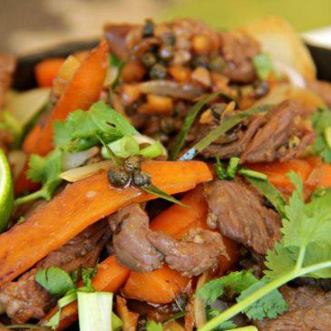 The Best Green Peppercorn Beef Celebrating Kampot Pepper - Served www.compassandfork.com