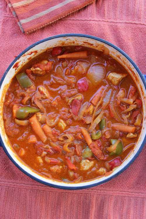 Traditional Romanian Food Pork Goulash compassandfork.com
