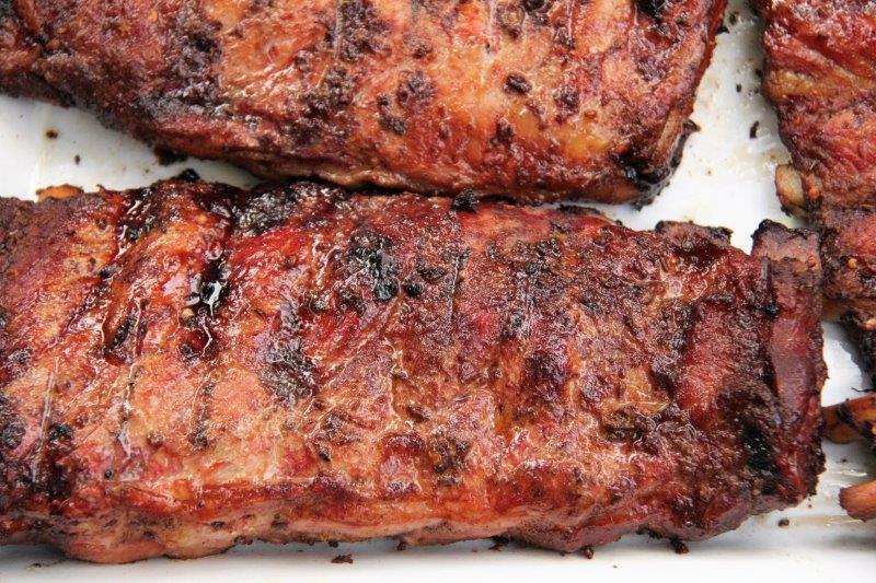 North Carolina Ribs with Vinegar Based BBQ Sauce Recipe compassandfork.com